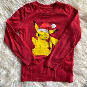 ❤️Pokémon❤️Pikachu Boys 6 Long Sleeve Shirt